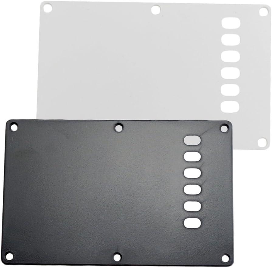 2x Tapa Trasera Placa para Guitarra Eléctrica St Blanco Partes Reemplazos para Instrumento Musical