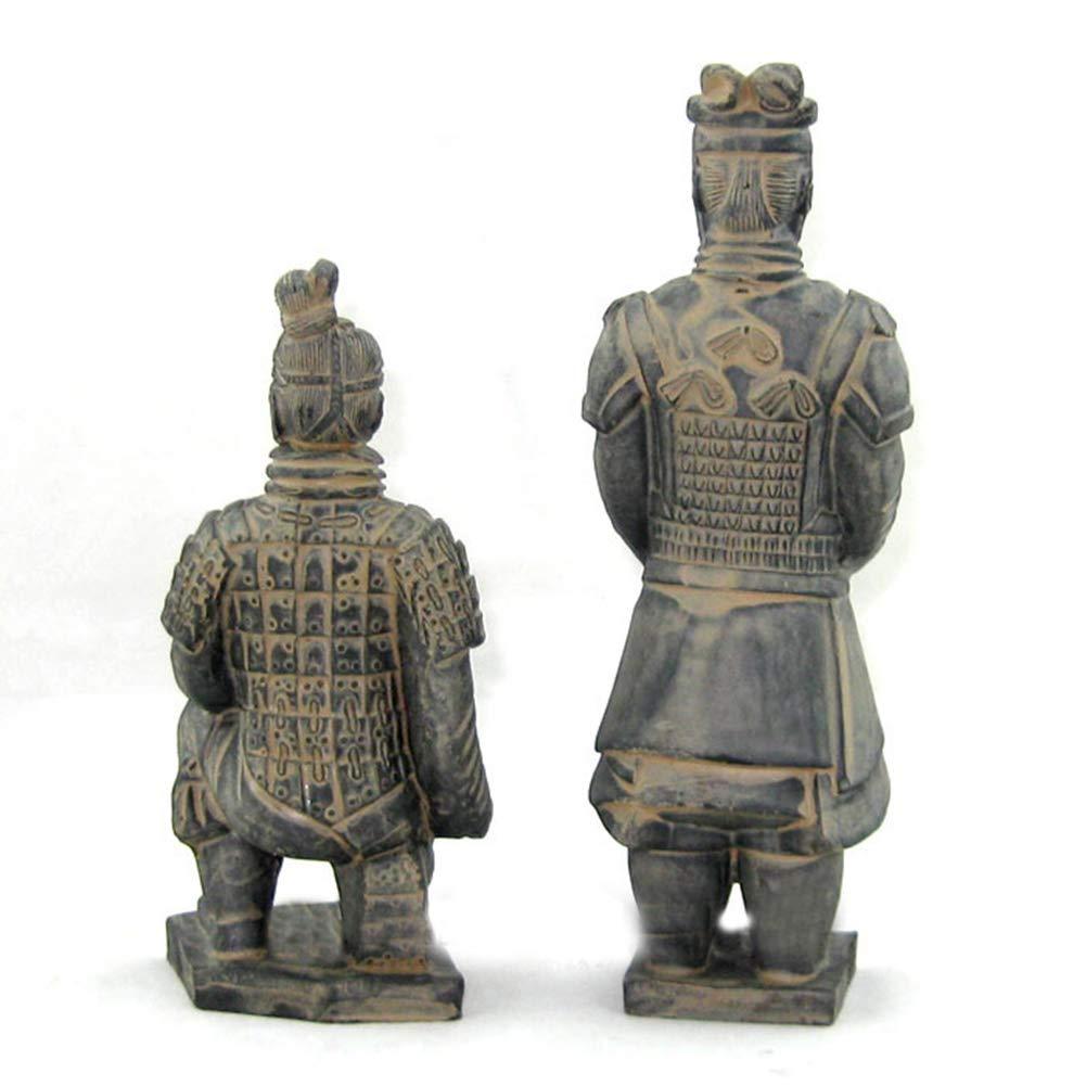 Decorazione dei mestieri del guerriero di terracotta modello cinese antico dei guerrieri di terracotta di Qin di Cina Regalo dimballaggio del contenitore di regalo di ricordo della Cina 2PCS