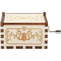 Keyren K Manivela de Mano Tallada de Madera Caja de Musica grabada de Madera Juguetes Musicales Regalos para el hogar Decoracion