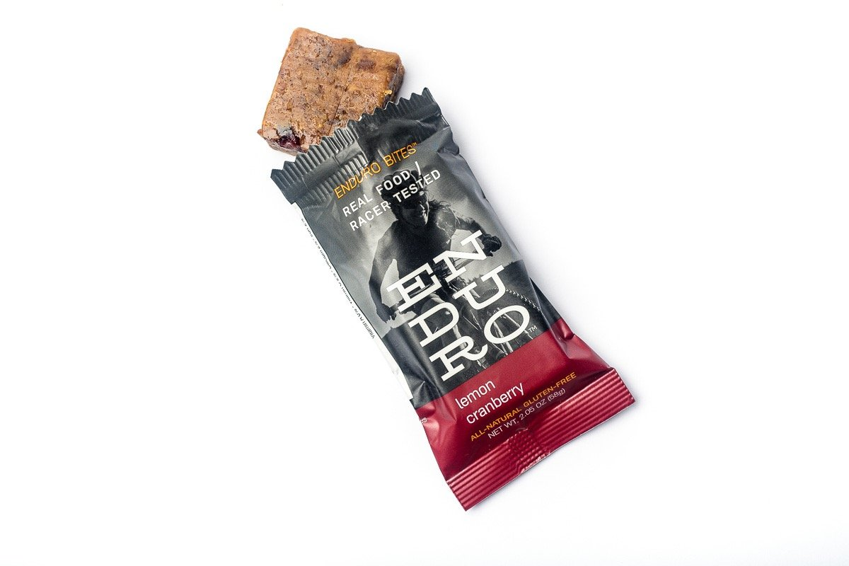 Enduro Bites Lemon Cranberry Real Food Energy Bar 10-Pack (Dairy Free, Gluten Free, Non GMO)