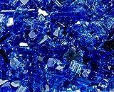 Quarter Inch Sapphire Reflective Fire Glass, 10 Pound Bag