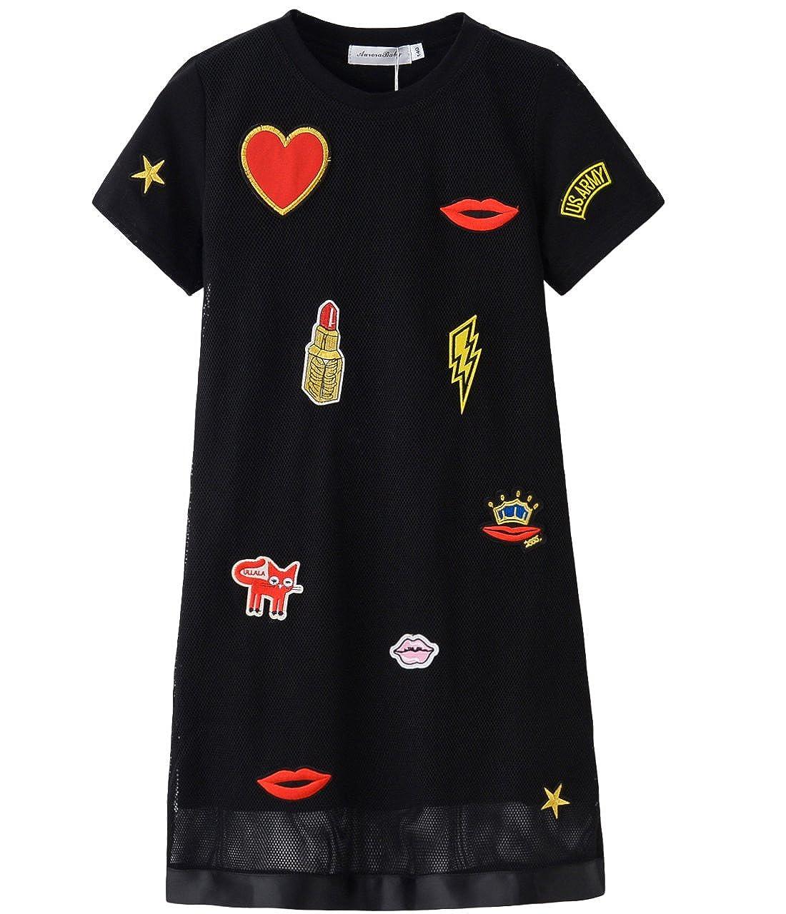 cf9ce267a Aurora AuroraBaby Little Big Girls  Casual Dresses Size 7-16 Cotton ...