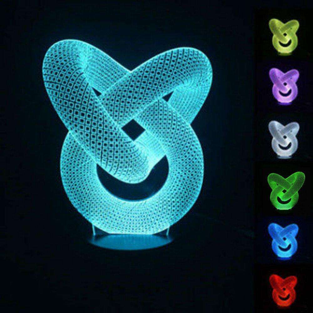 Amazon.com: niudb Ilusión óptica 3d Dolphin iluminación ...
