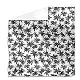 Palmtrees Flat Sheet: King Luxury Microfiber, Soft, Breathable