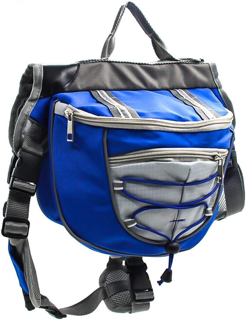Color : Orange, Size : L Polyester Dog Saddlebags Pet Detachable Backpack Saddle Bag for Travel Camping Hiking