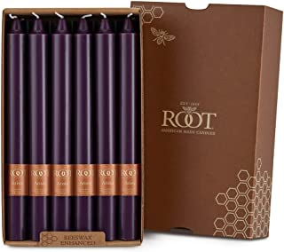 product image for Root Candles Unscented Smooth Arista 9-Inch Dinner Candles, 12-Count, Aubergine