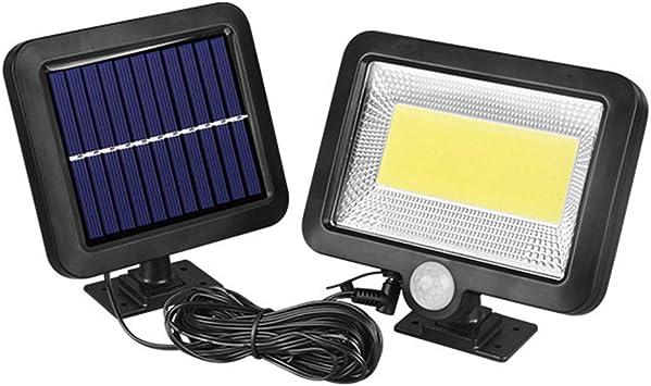 Ltteny 100COB LED Luz Solar Exterior, Lámpara de Noche Montada en la Pared, Sensor de Movimiento, Luz de Seguridad para Jardín Impermeable al Aire Libre: Amazon.es: Bricolaje y herramientas