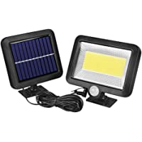 Zonnelampen voor buiten, met bewegingsmelder, 100 Cob, wandlamp, nachtlamp, bewegingssensor, buiten, waterdicht, tuin…