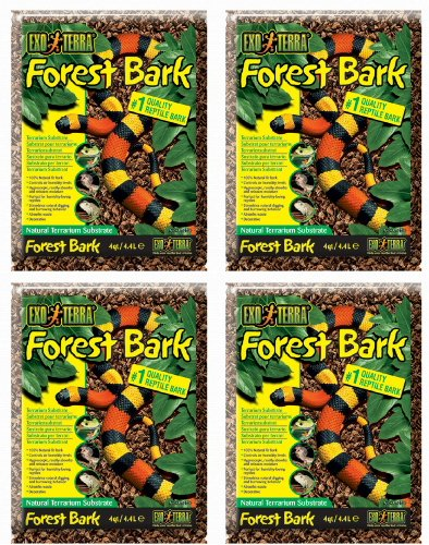 Exo Terra Forest Bark Natural Terrarium Substrate 16qt (4 x 4qt) by Exo Terra