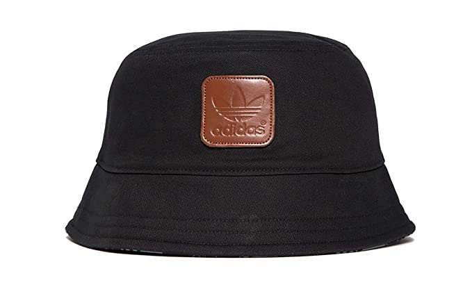 59e7d218f67 ... italy adidas originals mens trefoil bucket hat cap in black cotton  medium size be8d1 1f05c