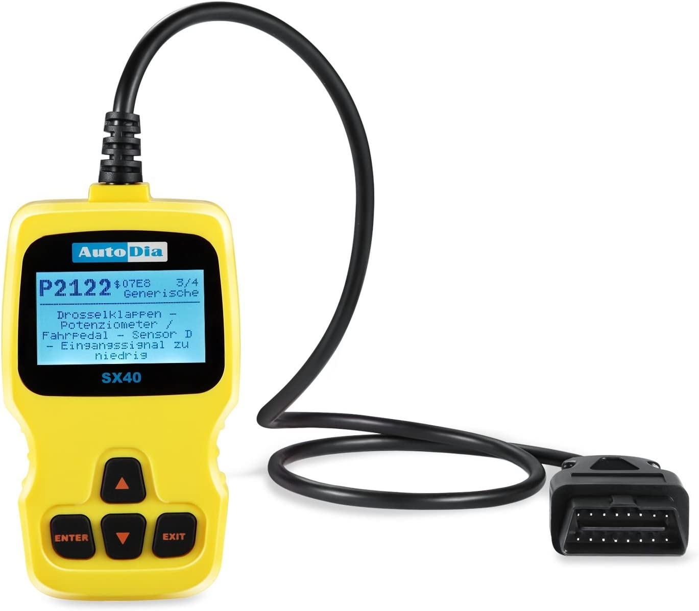 AutoDia SX40/ Can Bus Diagnostic OBD2/ EOBD Scanner Handscanner in German Language