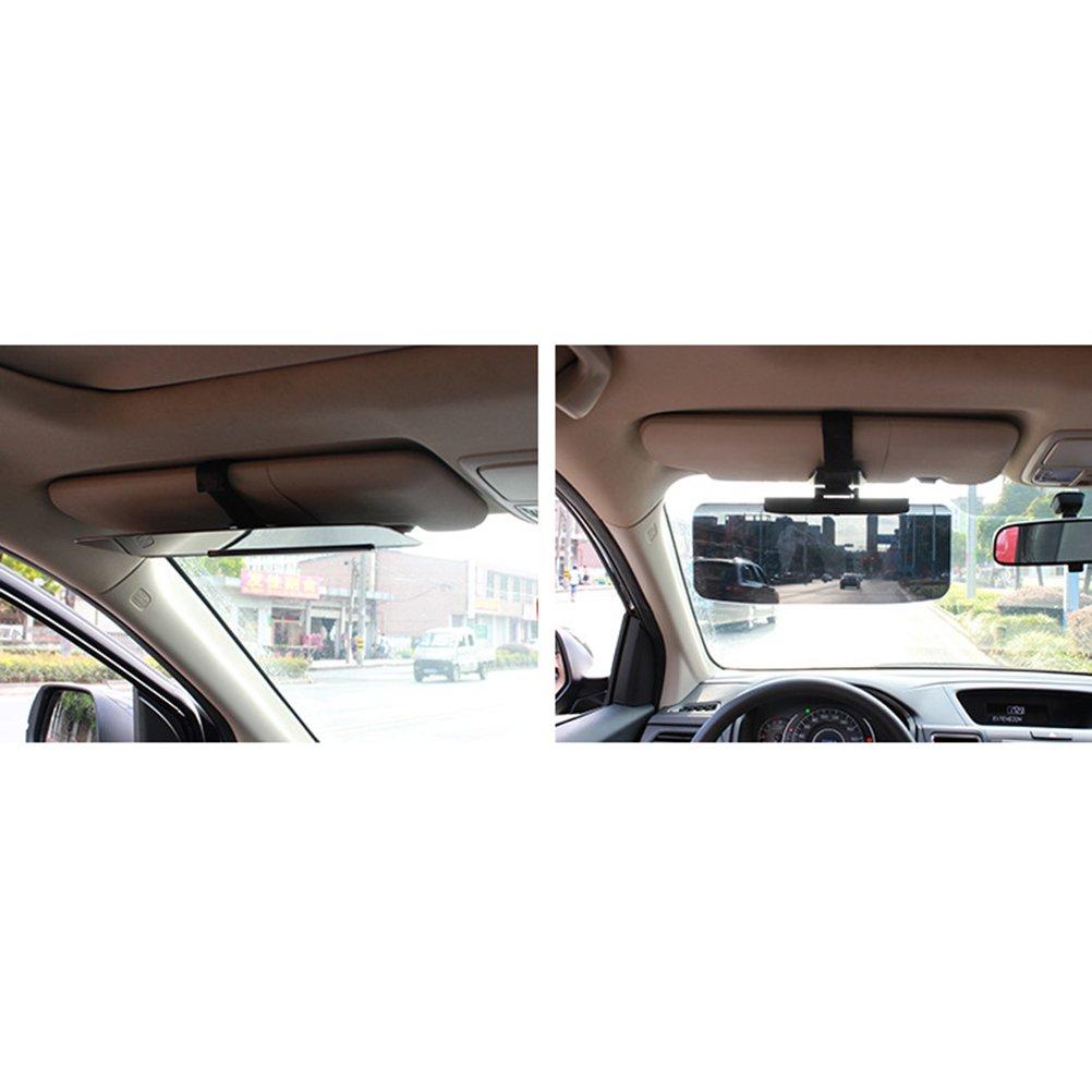 Negro WINOMO Viseras Parasol Extensor de Parasol Anti-Deslumbramiento para Coche