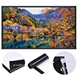 Instahibit 72'' 16:9 Portable Front Projection Screen Matte White HD Movies Home Theatre Outdoor Yard Conference