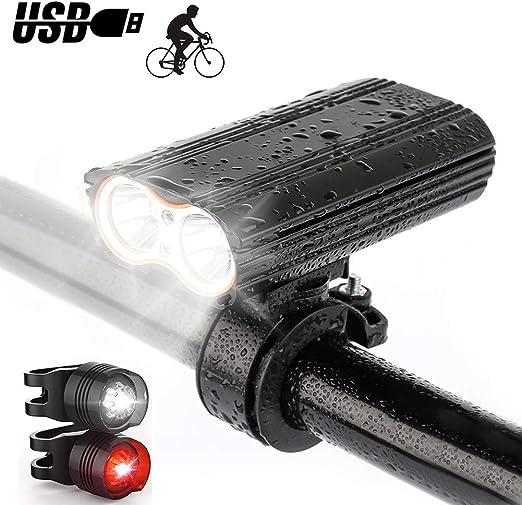 Juego de luces para bicicleta , Luz delantera de bicicleta ...