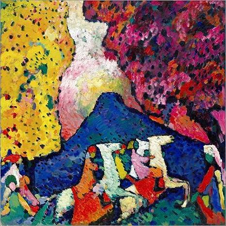 Posterlounge Cuadro de metacrilato 20 x 20 cm: Blue Mountain de Wassily Kandinsky