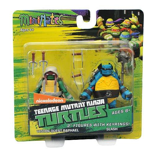 Teenage Mutant Ninja Turtles Minimates w/Keyrings - Vision Quest Raphael & Slash