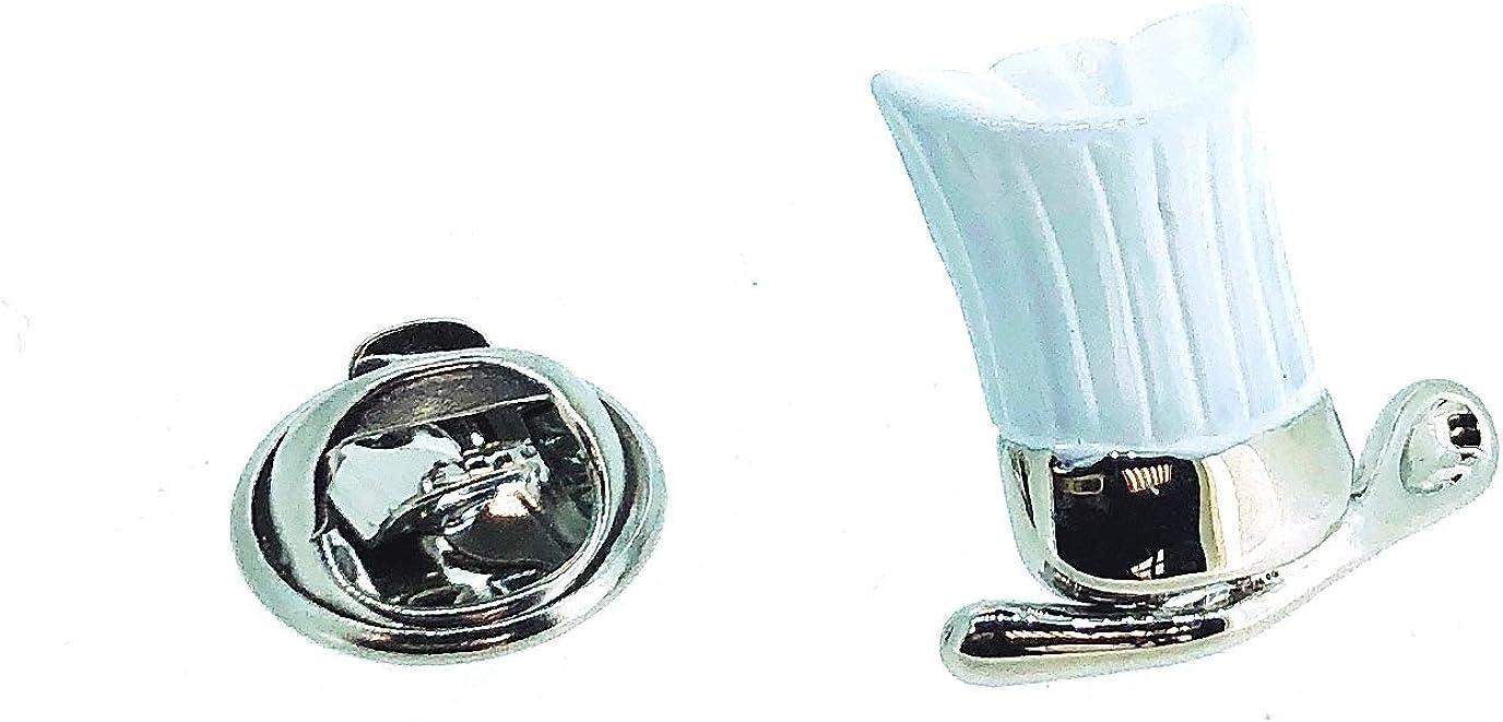 Pin de Solapa Gorro Cocinero Blanco: Amazon.es: Ropa y accesorios