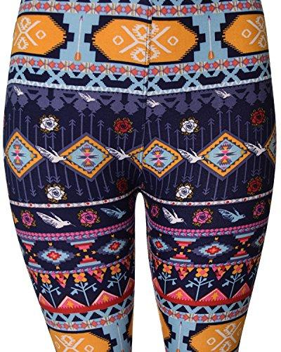 VIV Collection Regular Size Printed Brushed Leggings (Patterned String) by VIV Collection (Image #2)