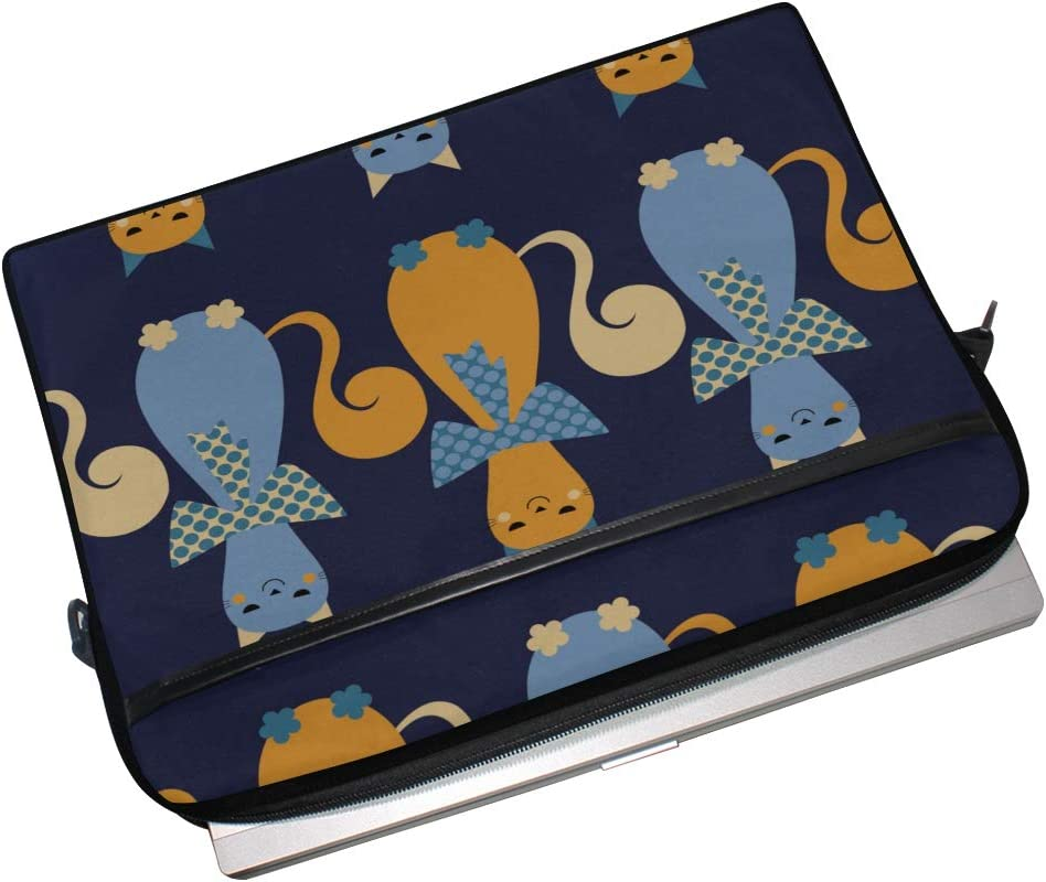 Laptop Bag Decorative Cats Hearts 15-15.4 Inch Laptop Case College Students Business People Office W Briefcase Messenger Shoulder Bag for Men Women