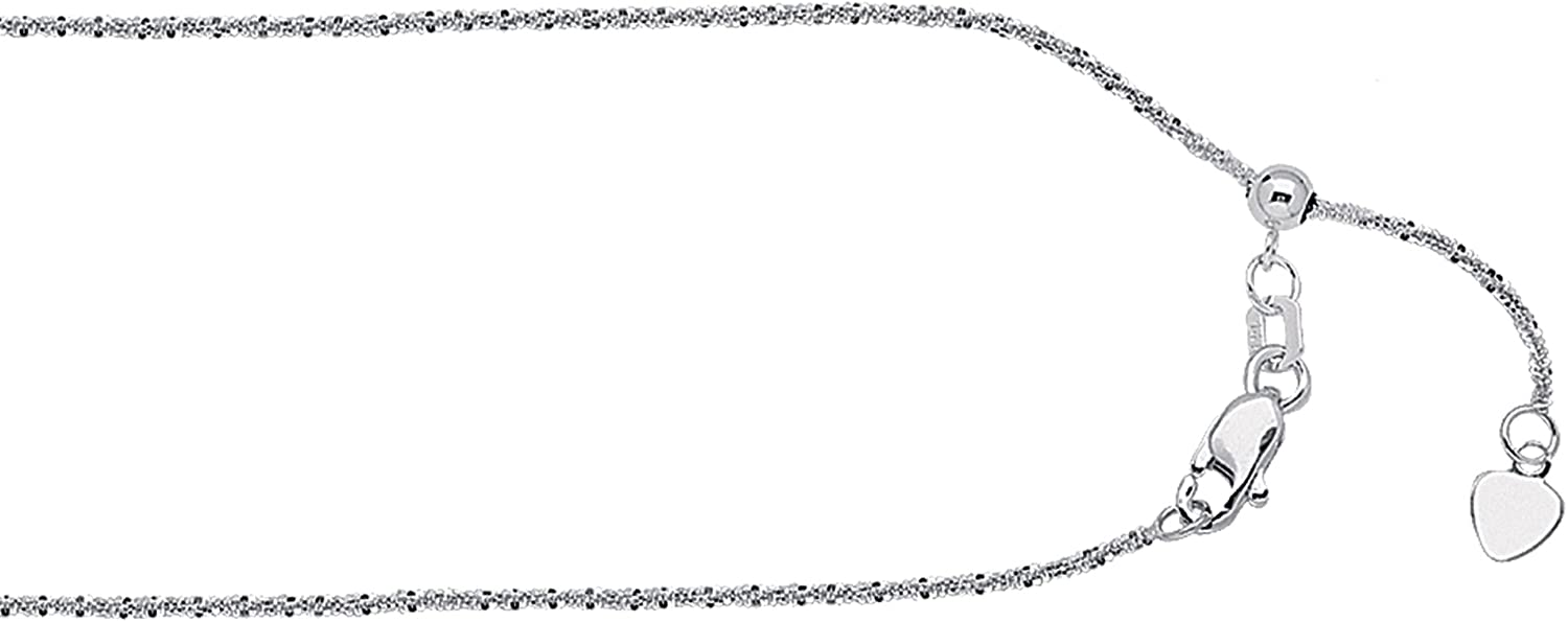 22 INCHES LONG SPARKLE CHAIN 14KT GOLD ADJUSTABLE SPARKLE CHAIN