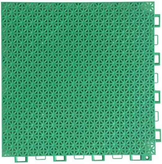 MABTS Impermeable PP plástico Antideslizante Rejilla Cuadrada Alfombrilla de baño tapete para jardín de Infantes Patio de Baloncesto Cocina baño Alfombra Verde: Amazon.es: Hogar