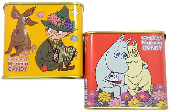 Sakuma confiter?a nuevas latas Moomim caramelo piezas 70gX10