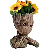 B-Best Guardians of The Galaxy Groot Pen Pot Tree Man Pens Holder or Flower Pot with Drainage Hole Perfect for a Tiny Succule
