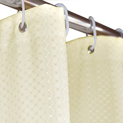 Eforcurtain Modern Fashion Waffle Weave Polyester Bath Curtains Mildew Free With Rust Proof Metal Grommets