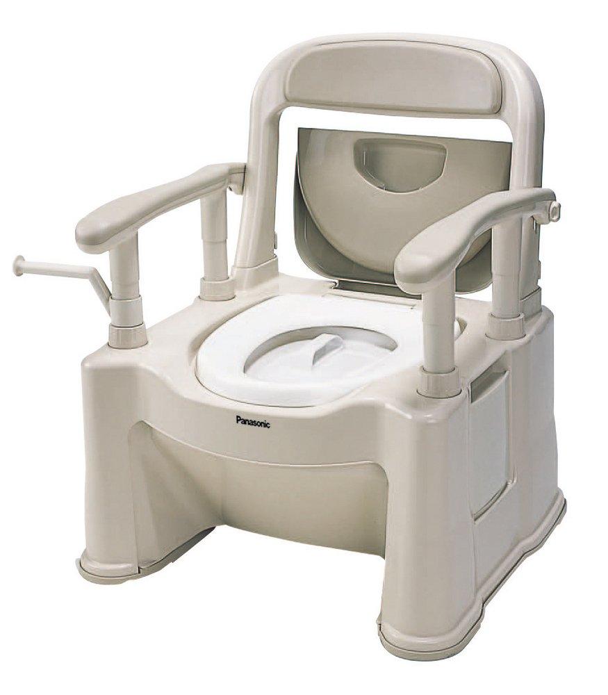 パナソニックエイジフリーライフテック ポータブルトイレ<座楽> 背もたれ型SP ベージュ VALSPTSPBE B001GZHH7C