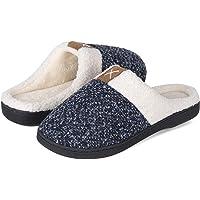 Zapatillas de Estar por casa Hombre Mujer Espuma de Memoria Cálido Comodidad Forro de Felpa Interior Antideslizante…
