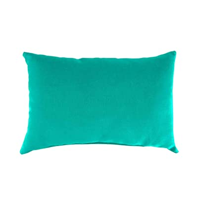 Plow & Hearth Polyester Classic Lumbar Pillow - 19 x 12 x 5.5 Aqua : Garden & Outdoor