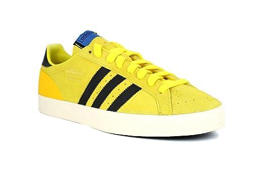 Adidas Originals Basket Profi bajas Zapatos ocasionales de los hombres retro zapatillas amarillas, Size:11: Amazon.es: Zapatos y complementos