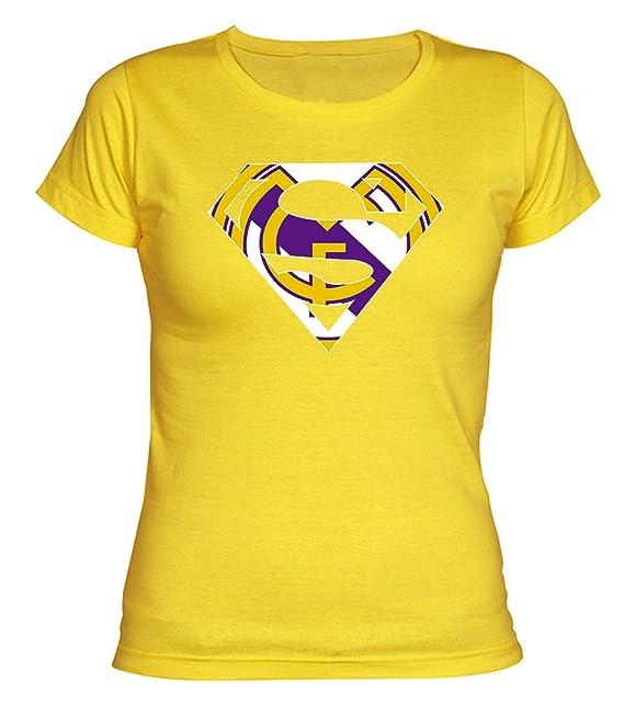 Camiseta Chica Supermán Madridista Camisetas del Real Madrid Merengues: Amazon.es: Ropa y accesorios