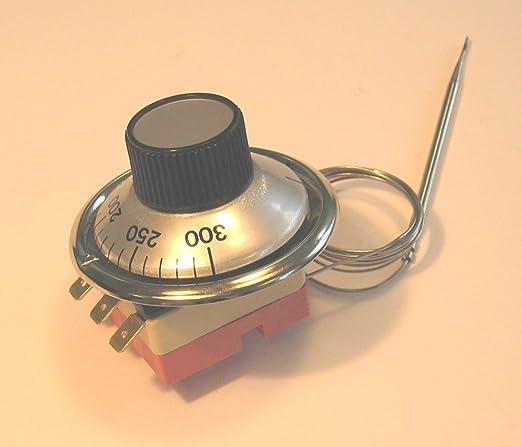 drta Termostato 100 – 500 grados para pizza Horno MD8080 con escala y botón