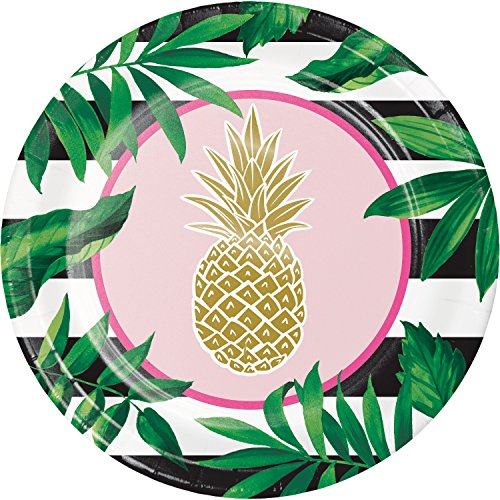 (Golden Pineapple Paper Banquet Plates, 24)