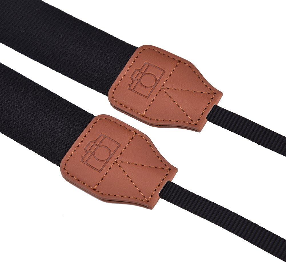 Oumij Neck Shoulder Belt Strap Camera Neck Shoulder Strap Belt Compatible for All DSLR//SLR//Digital Camera Colorful Camera Straps for Women//Men Black