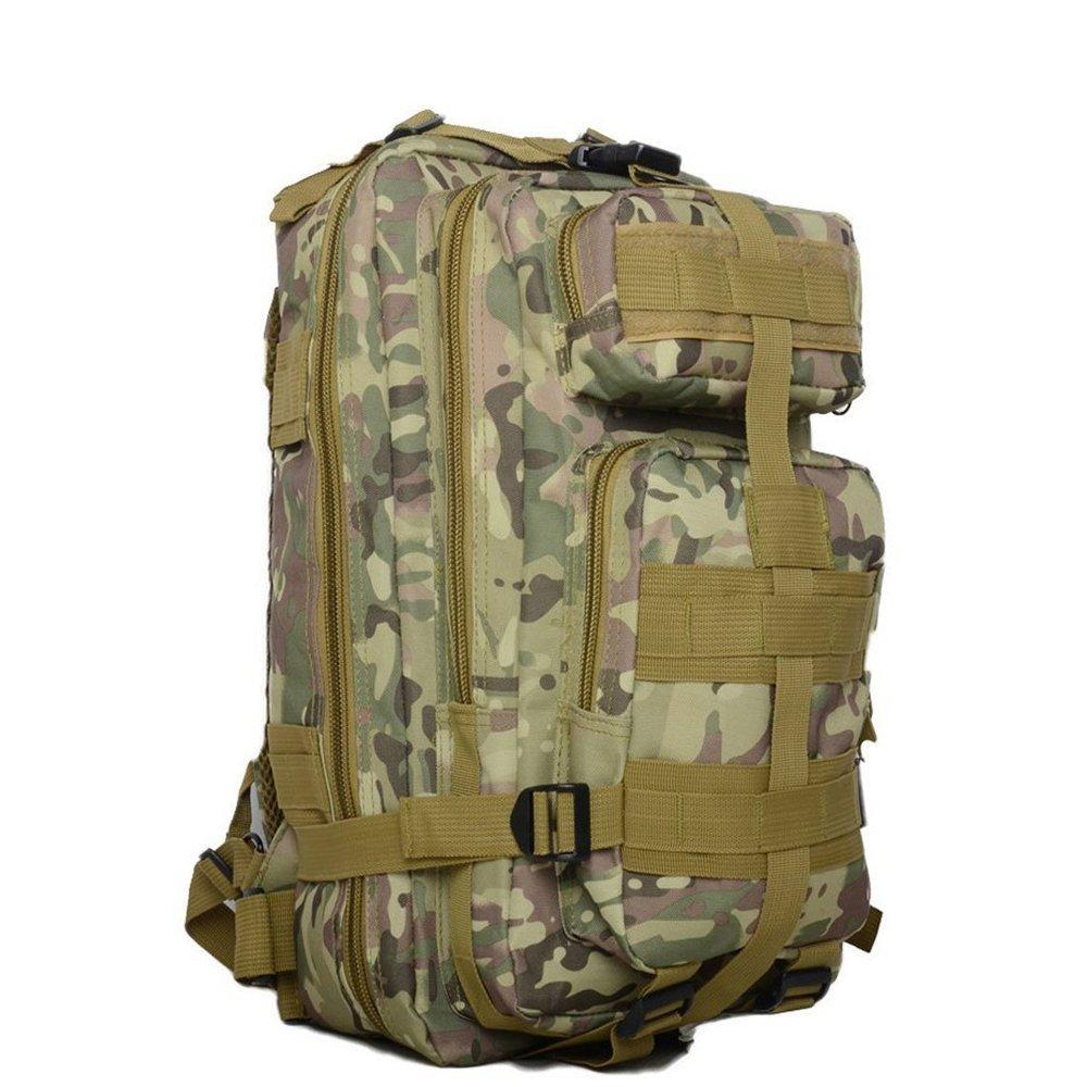 アウトドアスポーツ25l防水オックスフォードTactical MolleバックパックリュックサックArmy Military Assaultパックキャンプハイキングトレッキング釣り砂色迷彩 B072N362L2 CP迷彩 CP迷彩