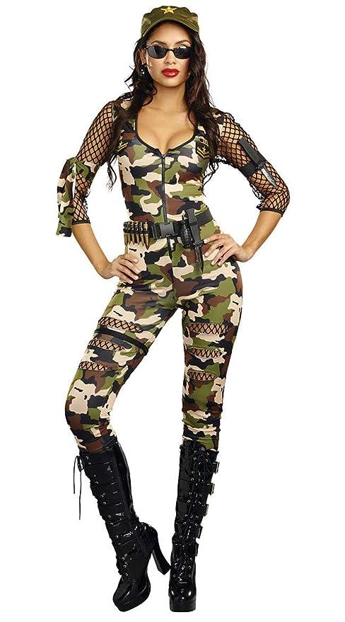SAMGU Mujer Sexy Camuflaje Ejército Militar Disfraz Comando ...
