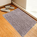18 x 28 Inch Brown Indoor Doormat Super Absorbent Non Slip Front Door Mat Machine Washable Carpet Home Entrance Rug with anti skid Rubber Backing