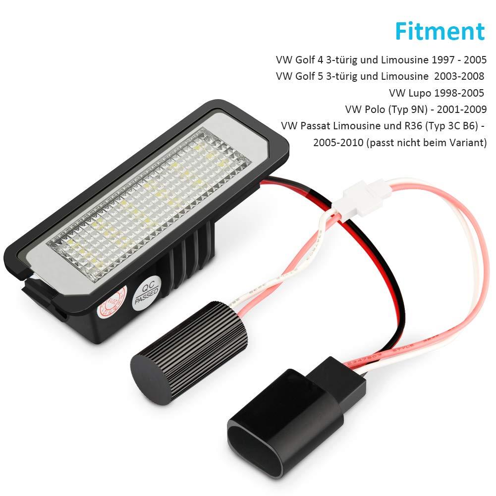Nummernschildbeleuchtung Auto Nummernschilder hell wei/ßes Licht geeignet f/ür E39 E60 E70 E90 BYBLIGHT LED Kennzeichenbeleuchtung