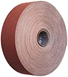 3M Utility Cloth Roll 314D, Aluminum Oxide, 2'' Width x 50 yds Length, P120 Grit, Maroon (Pack of 1)