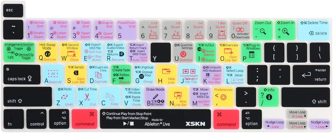 Ableton Direct Raccourci Clavier Us Couverture En Silicone