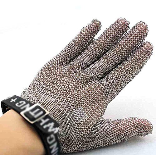 Stainless steel ring cutting gloves protective gloves slaughterhouse metal wire tapping supplies / only , m by LIXIANG (Image #1)