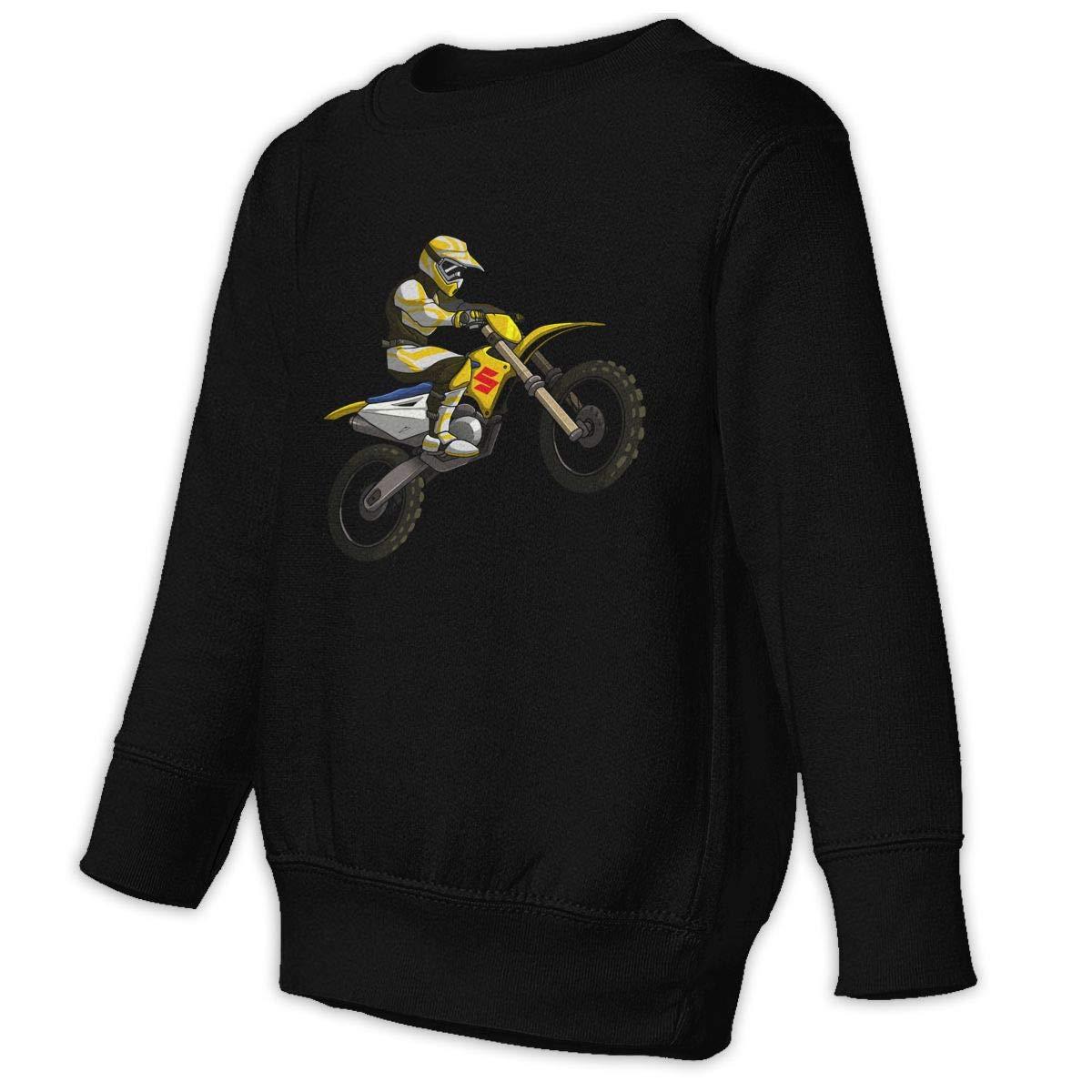 BOYS PERSONALISED MOTOCROSS DIRT BIKE HOODIE CHILDRENS HOODY ALL AGES