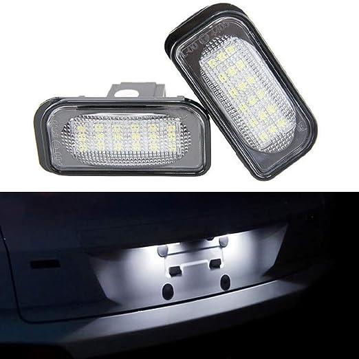 YOUNG4 2 Piezas 18SMD LED Placa de Licencia l/ámpara de Luces para Mercedes Benz Clase C W203 Sedan SL-Class R230 CLK-Class W209 C209 A209