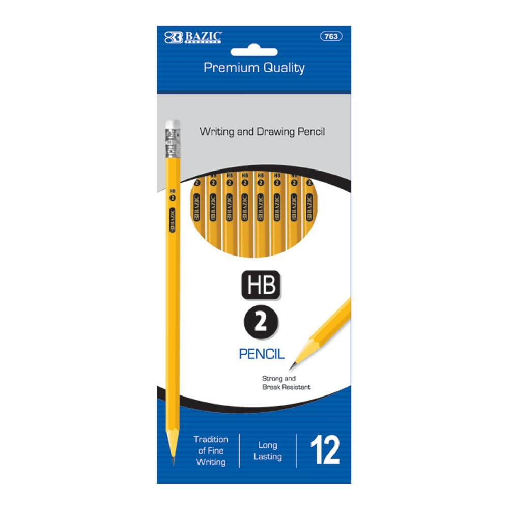 BAZIC #2 Premium Yellow Pencil (12/Pack) (Case of 144) by BAZIC