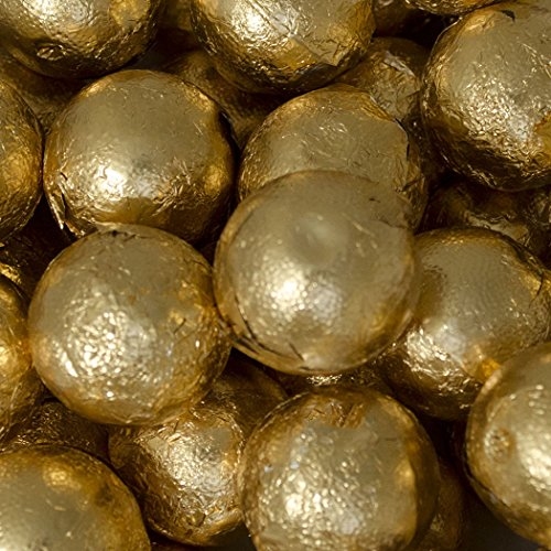 Gold Candy Caramel Filled Milk Chocolate Foiled Balls 5lb bag