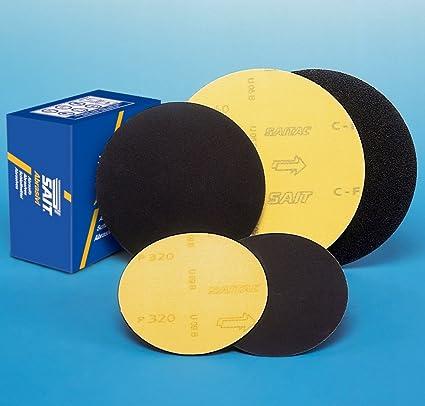 Per 50 discs 125mm Diameter silicon carbide hook and loop sanding discs