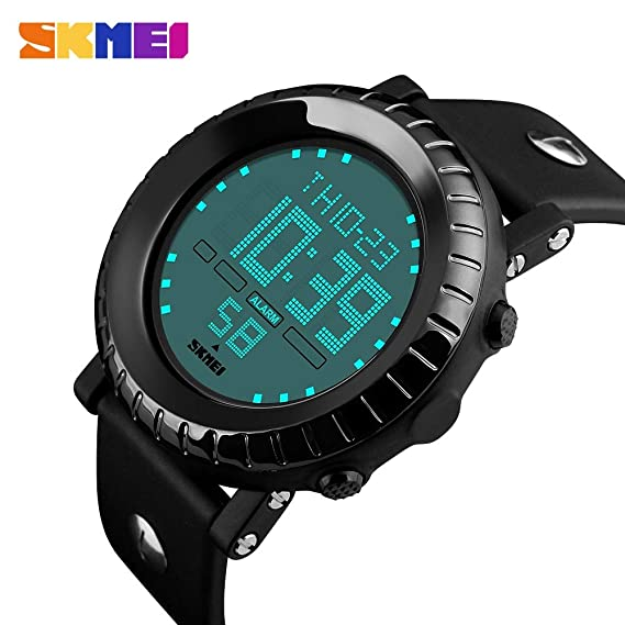 HWCOO Relojes de pulsera SKMEI reloj masculino casual estudiante deportivo reloj dial reloj electrónico (Color : 1): Amazon.es: Relojes