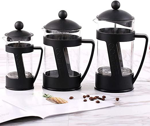 COKFEB Filtro de café 350/600/800 ml Vidrio Hueco Prensa Francesa ...
